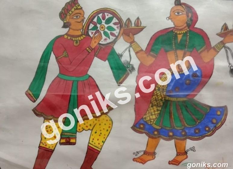 Rajasthani Fad Painting