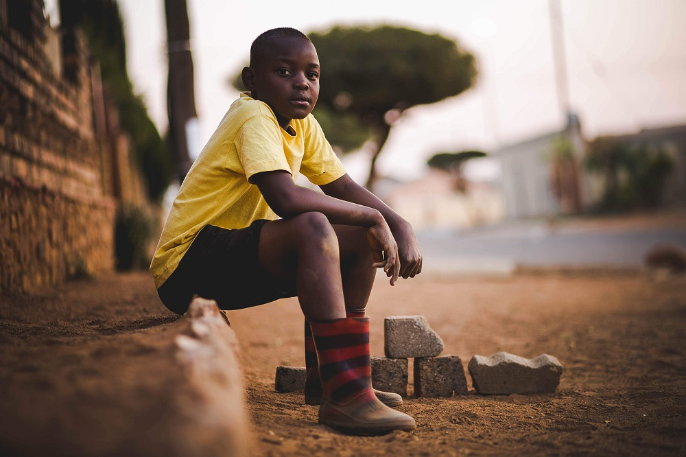 alone boy on streets