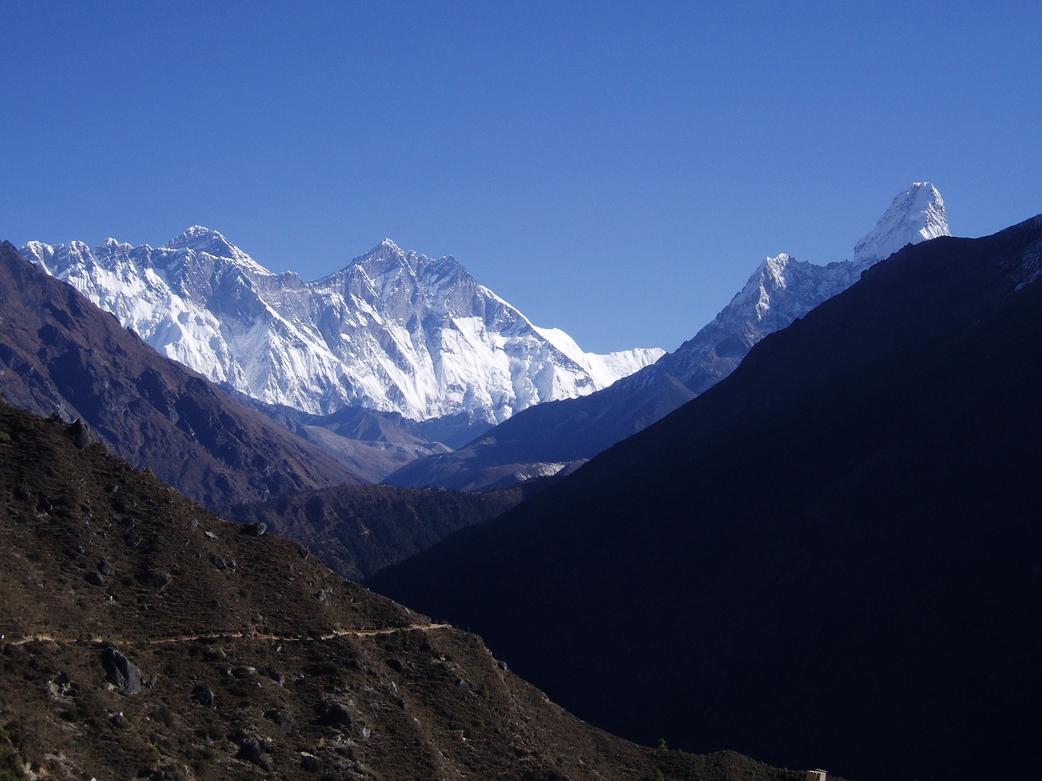 Mount everest base camp from namche bazaar - Best place to visit in nepal for adventure torurists
