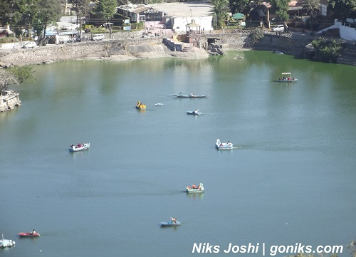 Nakki Lake Aerial View