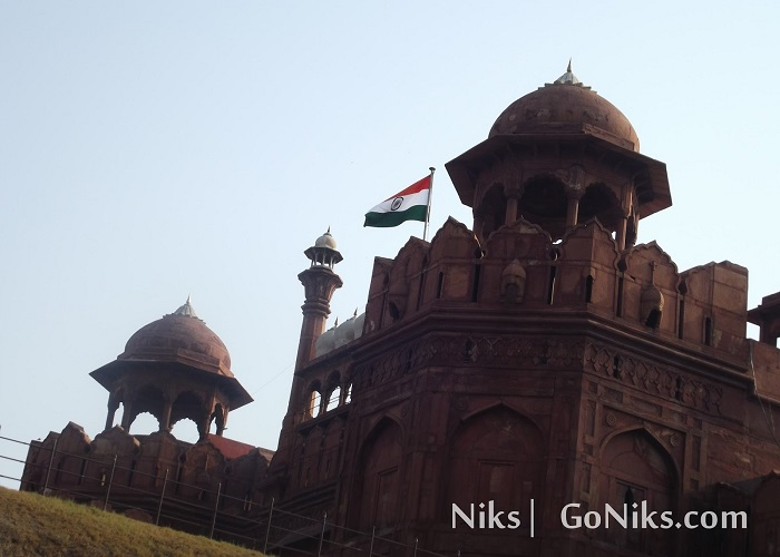A View of Red Fort in delhi