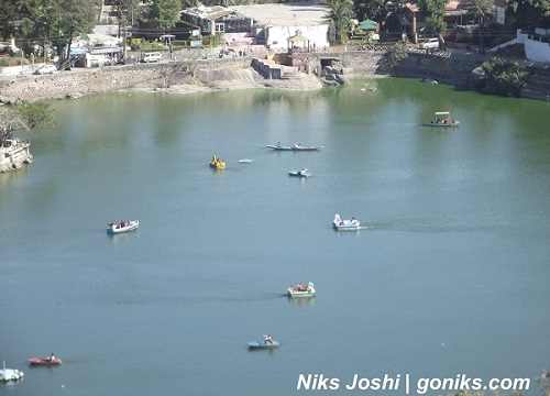 Aerial view of nakki lake mount abu