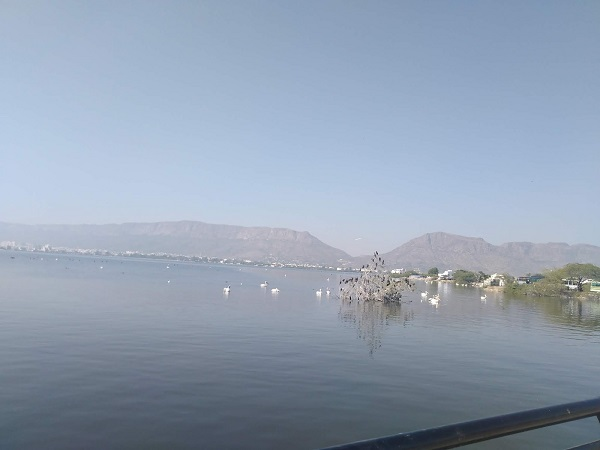 View of lake in ajmer