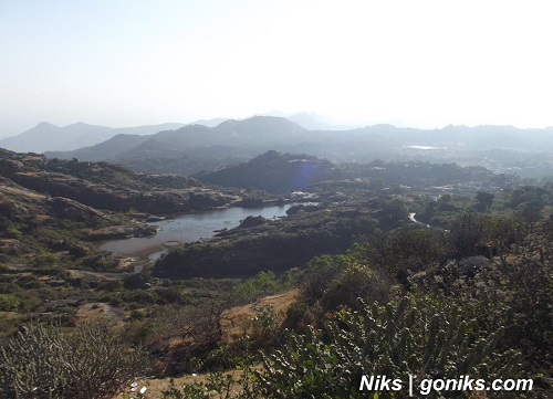 view of a lake in mount abu tour