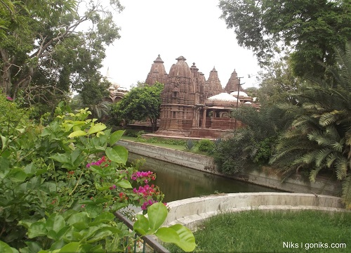 Mandore temple view from garden