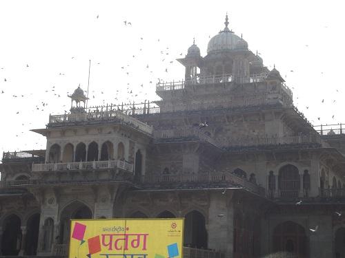 amazing view of albert hall museum in jaipur