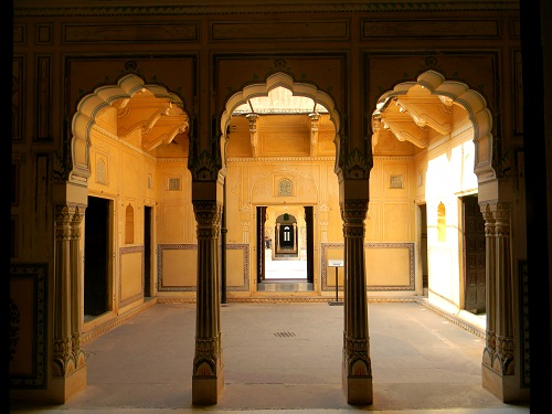 Palaces in the fort