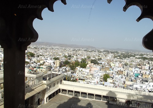 Architecture of city palace in udaipur