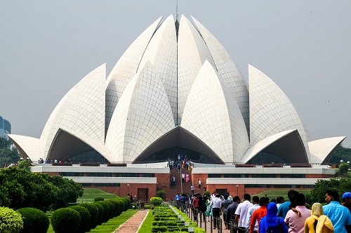 best places to visit in delhi- Lotus temple