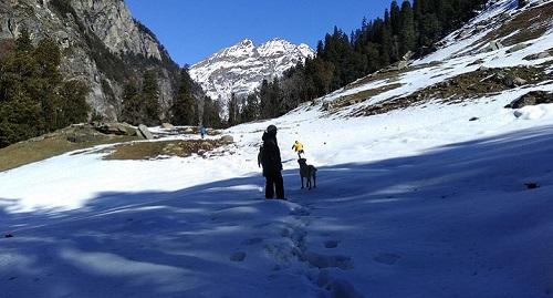 hampta pass trekking views from village